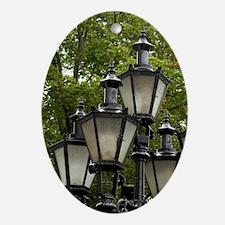 Estonia, Tallinn. Street lamp detail Oval Ornament
