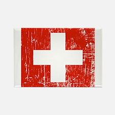 Vintage Switzerland Rectangle Magnet (100 pack)