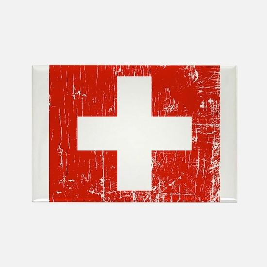 Vintage Switzerland Rectangle Magnet