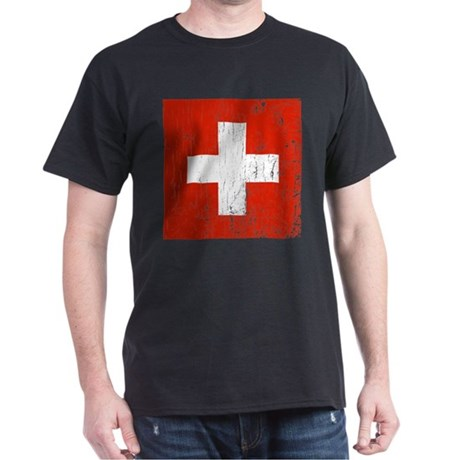 Vintage Switzerland Dark T-Shirt
