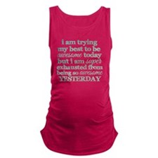 Trying My Best to be Awesome Maternity Tank Top