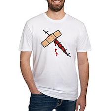 Wunde mit Pflaster Shirt