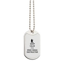 Keep Calm I'm a Krav Maga Instructor Dog Tags
