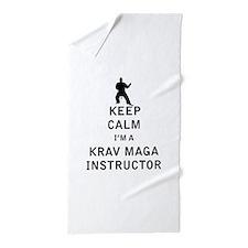 Keep Calm I'm a Krav Maga Instructor Beach Towel