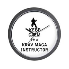Keep Calm I'm a Krav Maga Instructor Wall Clock