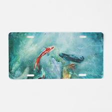 Koi Fish Cool Aluminum License Plate