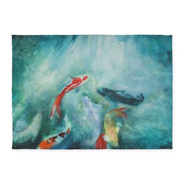 Koi fish cool 5 39 x7 39 area rug by listing store 124368888 for Cool koi fish