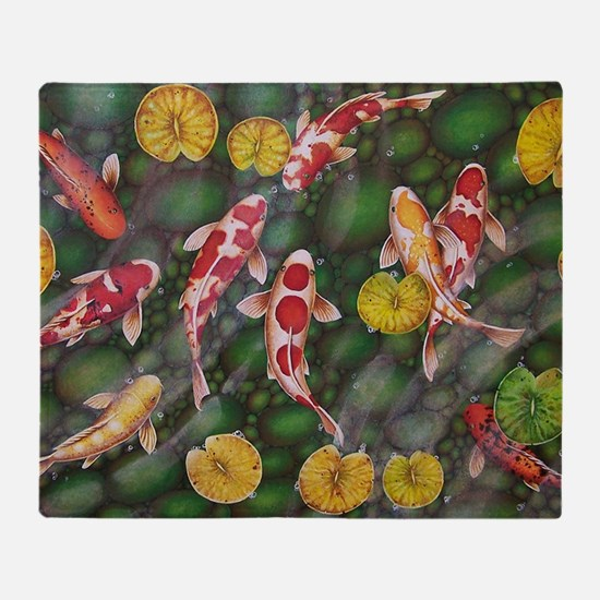 Koi Fish Cool Throw Blanket