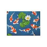 Koi fish 5x7 Rugs