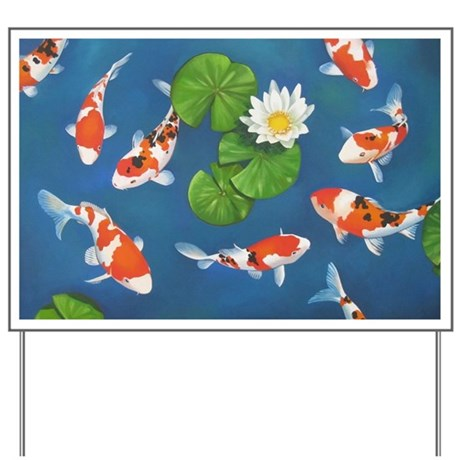Koi fish cool yard sign by listing store 124368888 for Cool koi fish