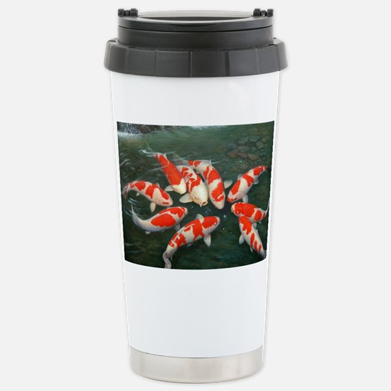 Koi Fish Cool Stainless Steel Travel Mug