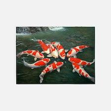 Koi Fish Cool 5'x7'Area Rug