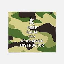 Keep Calm I'm a Krav Maga Instructor Throw Blanket