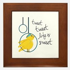 Life is Sweet Framed Tile