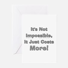 Costs More! Greeting Cards (Pk of 10)