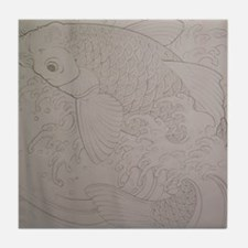 Koi Fish Feng Shui Tile Coaster