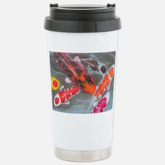 Koi Fish Feng Shui Stainless Steel Travel Mug