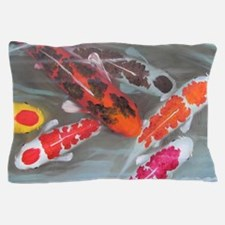 Koi Fish Feng Shui Pillow Case
