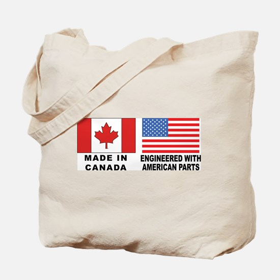 Engineered With American Parts Tote Bag