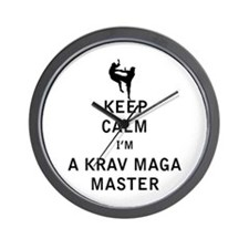 Keep Calm I'm a Krav Maga Master Wall Clock