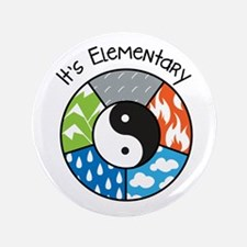 "Its Elementary 3.5"" Button"