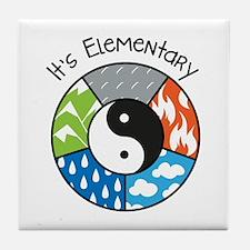 Its Elementary Tile Coaster