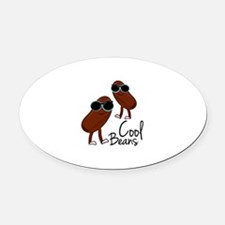 Cool Beans Oval Car Magnet