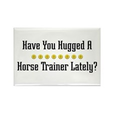 Hugged Horse Trainer Rectangle Magnet