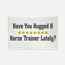 Hugged Horse Trainer Rectangle Magnet