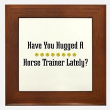 Hugged Horse Trainer Framed Tile