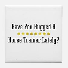 Hugged Horse Trainer Tile Coaster