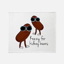 Kidney Beans Throw Blanket