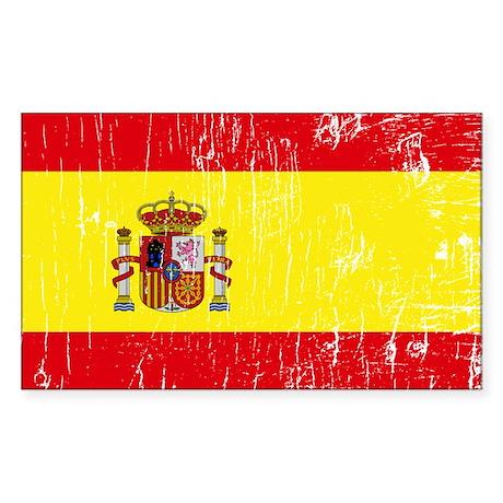 Vintage Spain Rectangle Sticker