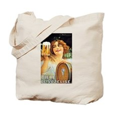 Vintage BEER Ad Poster French Tote Bag