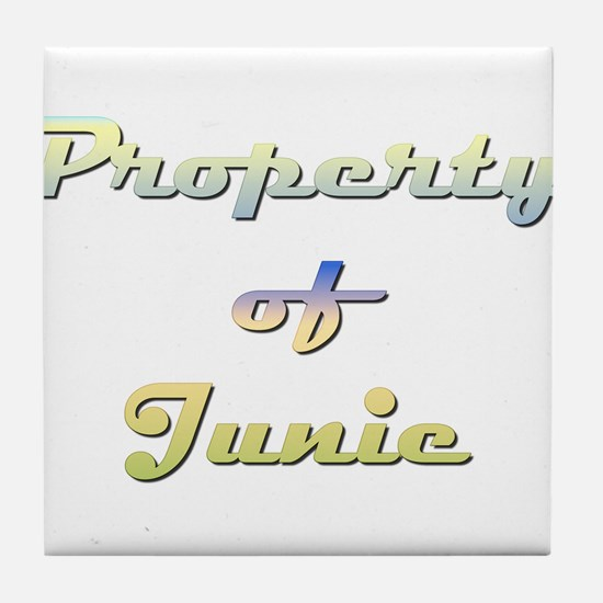 Property Of Junie Female Tile Coaster
