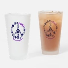 Peace For Everyone Drinking Glass