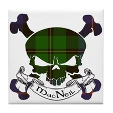 MacNeil Tartan Skull Tile Coaster