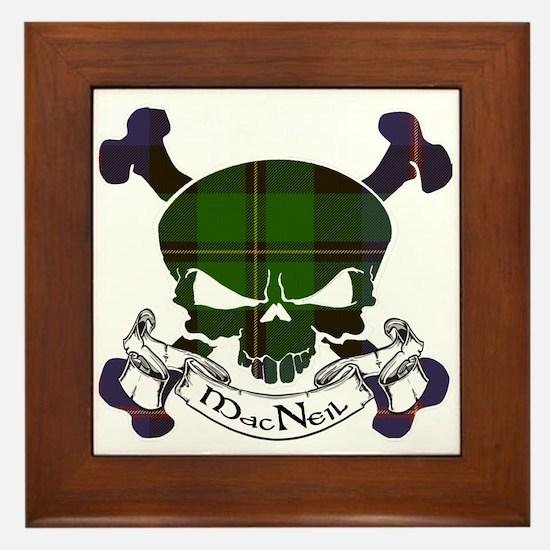 MacNeil Tartan Skull Framed Tile