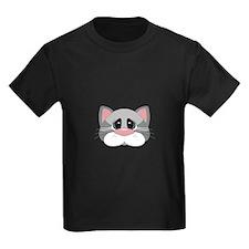 Cute Gray Cat Face T-Shirt