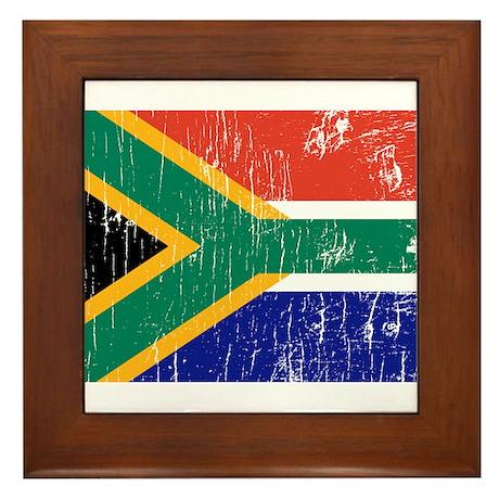 Vintage South Africa Framed Tile