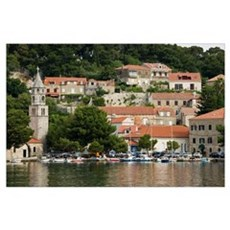 CAVTAT. Harbor View with the Monastery of Our Lady Poster