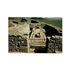 Housesteads. Hadrian's Wall. Roma Rectangle Magnet
