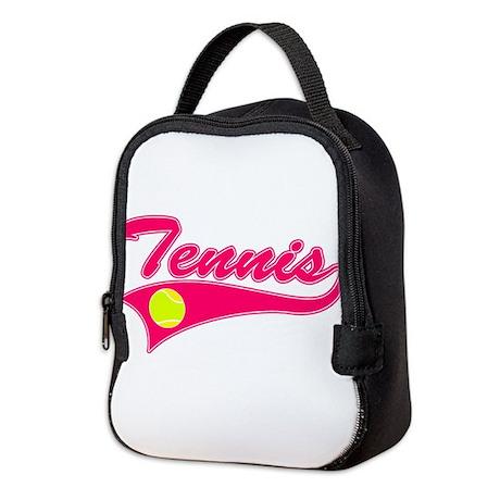 Pink Tennis Neoprene Lunch Bag by JustSportsShop