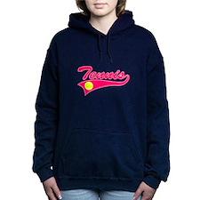 Pink Tennis Women's Hooded Sweatshirt