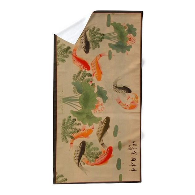 Koi fish cute beach towel by listing store 124368888 for Koi fish store