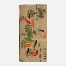 Koi Fish Cute Beach Towel