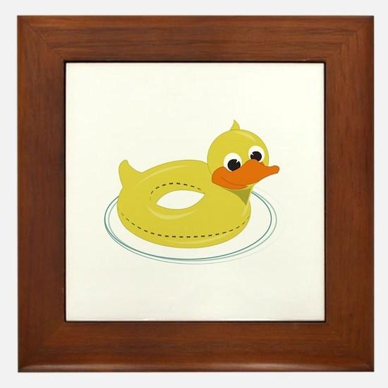 Duck Pool Toy Framed Tile