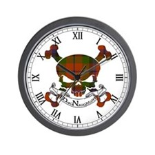 MacNaughton Tartan Skull Wall Clock