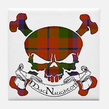 MacNaughton Tartan Skull Tile Coaster