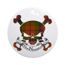 MacNaughton Tartan Skull Ornament (Round)